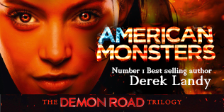 American Monsters by Derek Landy book cover